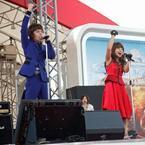 イケメン・ミゲルと妖艶・さくらまや、話題のMarMeeが真夏のお台場で熱唱!