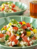 【牡牛座のアストロパワーレシピ】心と体に元気を取り戻す「カラフル野菜の雑穀入りお米サラダ」
