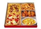 ピザハット、サッカーフィールドに見立てたピザ入りの特別ボックスメニュー発売