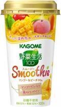 たっぷり果肉感のごちそうスムージー「野菜生活100 Smoothie マンゴー&ピーチMix」新発売―カゴメ