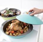 食卓に出してもサマになる! ドーム型フタで蒸し物もラクチンなカラフル平鍋「HiraNabe」発売―EAトCO