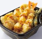 エビ・ホタテ・イカの天ぷらを特製だれで! ほっともっとから「海鮮天丼」新発売