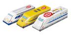 キットカットが新幹線のマトリョーシカに!?歴代新幹線の個包装も。