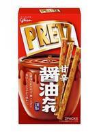 バリバリ食感のおせんべい風プリッツ!2倍の太さの「醤油たれプリッツ」新発売