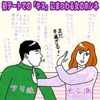 初デートでの「キス」にまつわる女のホンネ【イラストコラム】