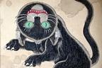 """石黒亜矢子「化け猫と幻獣」展が新宿で開催 - 京極夏彦の書籍装丁画も描く""""妖怪""""アーティスト"""