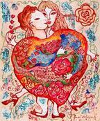 蜷川有紀の絵画展「薔薇のおもちゃ箱」渋谷で開催 - 愛を演出する深紅の薔薇空間