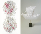 和菓子の型と和紙で作るアート雑貨、展示・販売会「永田哲也展」が青山スパイラルで