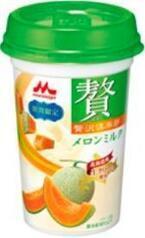 「森永乳業」美容に良いメロンを使った、おいしい乳飲料、発売!