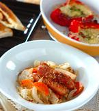 今日の献立は「ソーセージとキャベツの粒マスタード煮」 E・レシピ