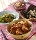 今日の献立は「豚肉ロールの照り焼き丼」 E・レシピ