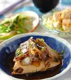 今日の献立は「魚のアラの煮物」 E・レシピ