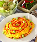 今日の献立は「とろとろ卵のウインナーオムライス」 E・レシピ
