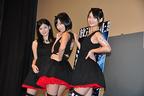 『放送禁止』公開記念イベント高崎聖子、倉持由香、鈴木咲による洋画宣伝のためのユニット、ポニーキャニオ