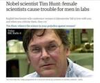 ノーベル賞受賞者「女は研究の邪魔」と発言 世界の科学者からの反撃がクールと話題に