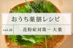 花粉対策レシピ <大葉>