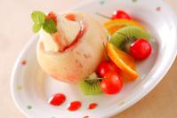 旬の桃を使った、プロ直伝レストランみたいなスイーツ