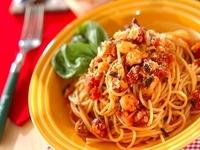 トマトが主役のパスタレシピ。