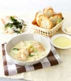鶏胸肉と白菜のクリーム煮の献立