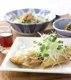 カレイ唐揚げ・香味野菜の献立