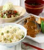 エンドウ豆ご飯の献立