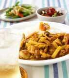 時短!ヒラヒラ野菜と薄切り豚肉のカレーの献立