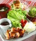 「鶏もも肉の北京ダック風」の献立