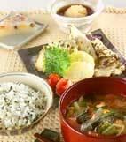 野菜の天ぷらの献立