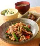 豚肉の山椒風味炒めの献立