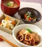 イカと焼き豆腐の甘煮の献立
