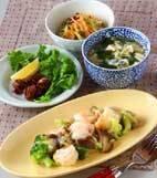 エビと野菜の中華炒めの献立