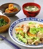 豚肉とキャベツの炒め物の献立