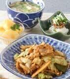 豚肉と野菜のピリ辛炒めの献立