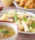 「イカとキクラゲの炒め物」の献立
