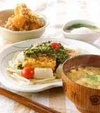 豆腐ステーキニラソースの献立