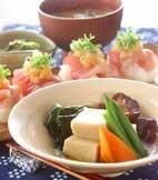 高野豆腐のふくめ煮の献立