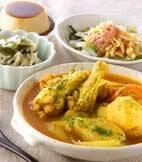 鶏手羽元カレースープ煮の献立