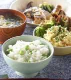 枝豆ご飯の献立