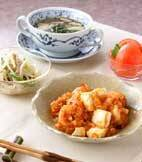 エビと豆腐のチリソースの献立