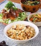松茸の炊き込みご飯の献立