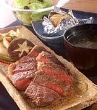 ステーキ&焼き野菜の献立