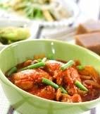 鶏肉のトマト煮の献立