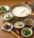 豆乳湯豆腐なべの献立