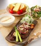 ステーキ・ワサビ風味の献立