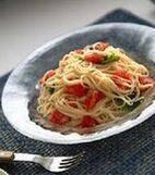 フレッシュトマトとバジルの冷製パスタの献立