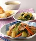 中華風野菜炒めの献立