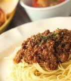 スパゲティーミートソースの献立