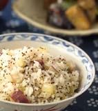 サツマイモご飯の献立