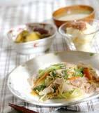 豚肉と野菜の炒めものの献立