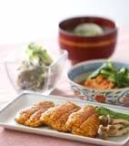 豆腐の蒲焼きの献立